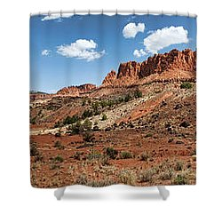 Shower Curtain featuring the photograph Capitol Reef Panorama No. 1 by Tammy Wetzel