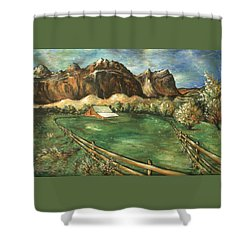 Capitol Reef Utah - Landscape Art Painting Shower Curtain