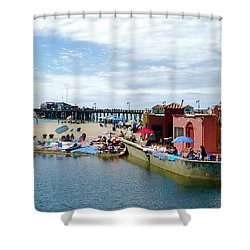 Capitola Begonia Festival Weekend Shower Curtain by Amelia Racca