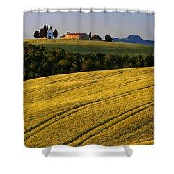 Cappelle Di Vitaleta Shower Curtain by Brian Jannsen