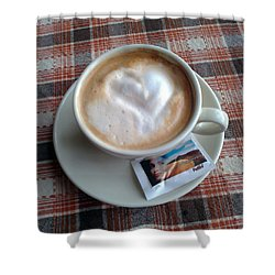 Cappuccino Love Shower Curtain by Ausra Huntington nee Paulauskaite