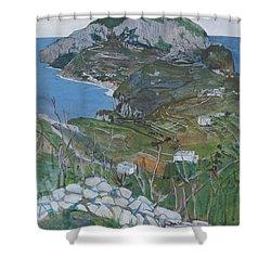 Capri, C.1904 Shower Curtain by Maurice Greiffenhagen