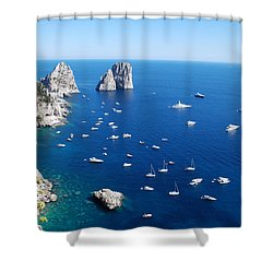 Capri  Shower Curtain by Dany Lison