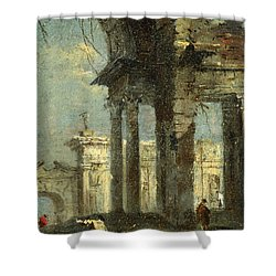 Caprice View With Ruins Shower Curtain