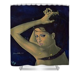 Capricorn From Zodiac Series Shower Curtain by Dorina  Costras