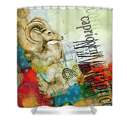 Capricorn Star Shower Curtain by Corporate Art Task Force
