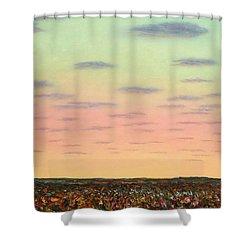 Caprock Sunrise Shower Curtain by James W Johnson