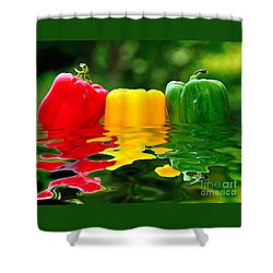 Capsicum Afloat Shower Curtain