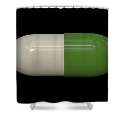 Capsule Pop Art Shower Curtain by Daniel Hagerman
