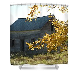 Shower Curtain featuring the photograph Captain Ed's Homestead by Penny Meyers