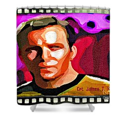 Captain James T Kirk Shower Curtain by John Malone