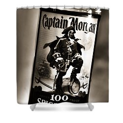 Captain Morgan Black And White Shower Curtain
