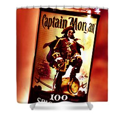 Captain Morgan Red Toned Shower Curtain