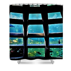 Captaining The Nautilus Shower Curtain by Benjamin Yeager