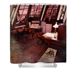 Captain's Cabin On The Dicey Shower Curtain