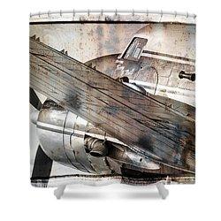 Captain's Flight Shower Curtain by Steven Bateson
