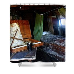Captain's Quarters Aboard The Mayflower Shower Curtain