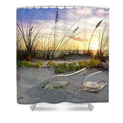 Captiva Sunset Shower Curtain by Jon Neidert