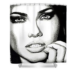 Captivating Eyes Shower Curtain
