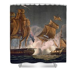 Capture Of La Tribune Shower Curtain by Thomas Whitcombe