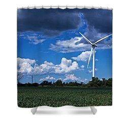 Capture The Wind Shower Curtain