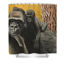 Captured Bernigie Shower Curtain