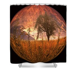 Captured Flame Shower Curtain by Debra and Dave Vanderlaan