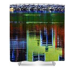 New England Landscape Illusion Shower Curtain
