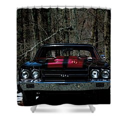 Car Art Chevy Chevelle Ss Hdr Shower Curtain by Lesa Fine