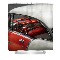 Car - Classic 50's  Shower Curtain by Mike Savad