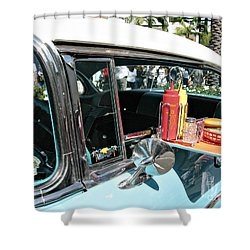 Car Hop Shower Curtain by Nina Prommer
