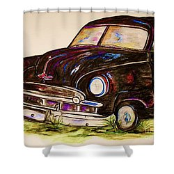 Car Of Character Shower Curtain by Eloise Schneider
