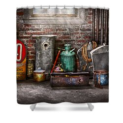 Car - Station - I Fix Cars  Shower Curtain by Mike Savad