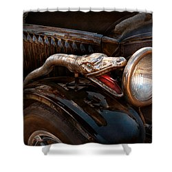 Car - Steamer - Snake Charmer  Shower Curtain by Mike Savad