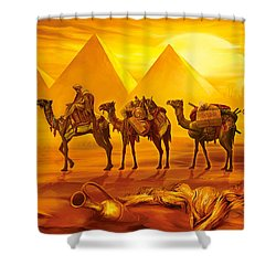 Caravan Shower Curtain by Jan Patrik Krasny