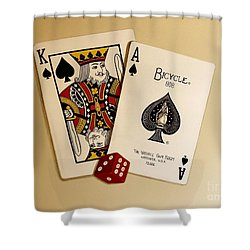 Card Game Room Mural Shower Curtain
