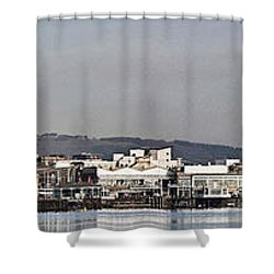Cardiff Bay Panorama 2 Shower Curtain by Steve Purnell