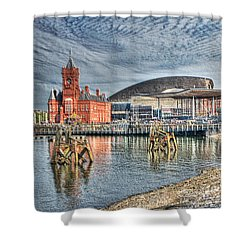 Cardiff Bay Textured Shower Curtain