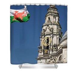 Cardiff City Hall Shower Curtain by Jeremy Voisey