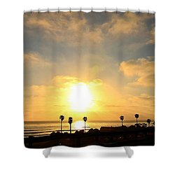 Cardiff Palms Shower Curtain
