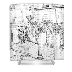 Shower Curtain featuring the painting Cardo by Linda Feinberg