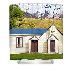Cardrona Schoolhouse Shower Curtain
