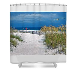 Carefree Days By The Sea Shower Curtain