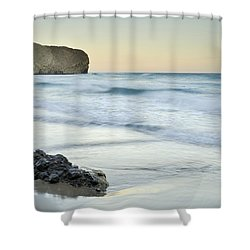 Caresses By The Sea Shower Curtain by Guido Montanes Castillo