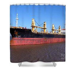 Cargo Ship Shower Curtain