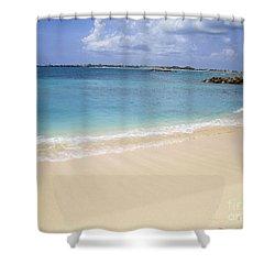 Caribbean Beach Front Shower Curtain by Fiona Kennard