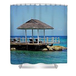 Caribbean Breeze Shower Curtain by Randy Pollard