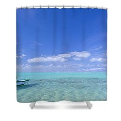 Caribbean Chill Time Shower Curtain by Marco Crupi