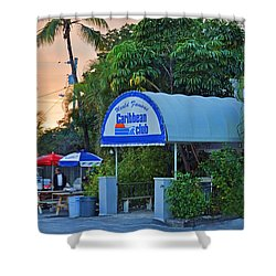 Caribbean Club Key Largo Shower Curtain by Chris Thaxter