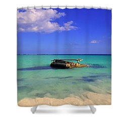 Shower Curtain featuring the photograph Caribbean Colors  by Eti Reid